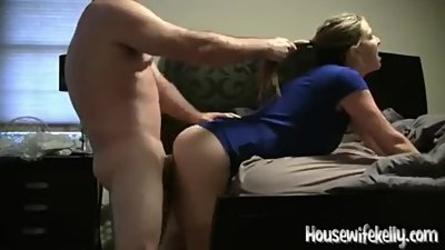 Horny housewife gets pounded with..
