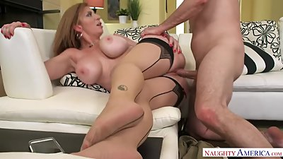 Sara Jays blows and swallows a..