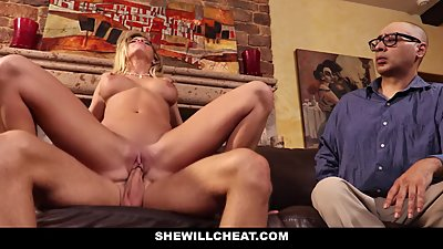 SheWillCheat - Cuckold Husband Watches..