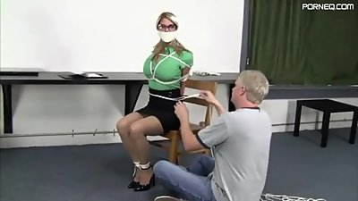 Carissa Begs For Bondage Office