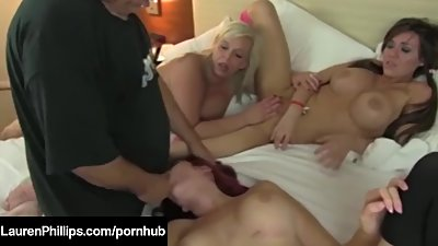 Hot Fuck Fiend Lauren Phillips & 2..