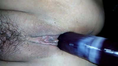 Cum Filled Condom On Dildo Fucks My..
