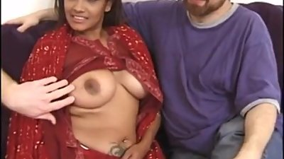 Hot Indian MILF in a Threesome