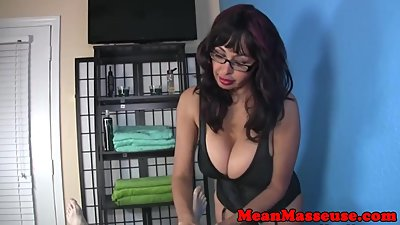 Bigtitted massage milf tugging her..