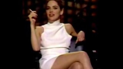 Hot Sharon Stone smokes