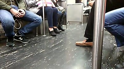 High Heels Milf On Train