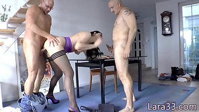 English milf double penetrated in anal..