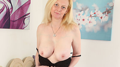 British, blonde and busty milf Fiona..