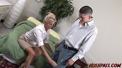 Hot teacher down to fuck student..