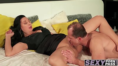 Sexy ass MILF Eva Ann railed deeply in..