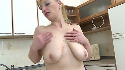 Naughty Housewife Playing With Her Dildo