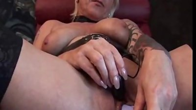 Check My MILF tattooed granny pumping..