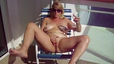 Slut Wife Deborah Kennedy Masturbating