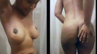 black milf dancing naked in the shower