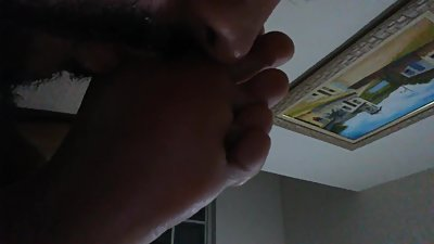 Licking and kissing my wife soles